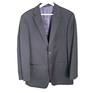 Jones New York Classic Blue Pinstripe 40R Blazer